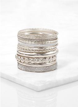 Assorted Rhinestone Glitter Bangles - 1194073843854