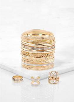 Plus Size Bangles and Rings - 1194073843855