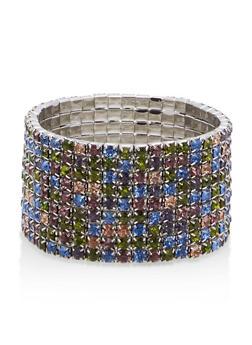 Multi Rhinestone Stretch Bracelet - 1194074140126