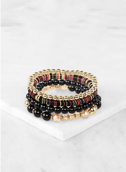 Mixed Bead Stretch Bracelets - 1194074751501
