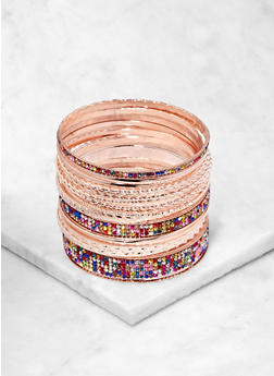 Assorted Metallic Bangles - 1194074985695