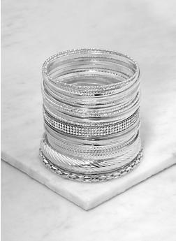 Metallic and Druzy Charm Bangles - 1194074985841