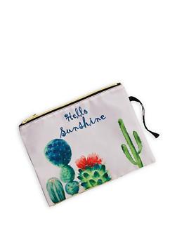 Cactus Graphic Swim Pouch - 1200018430712