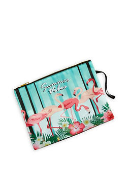 Flamingo Graphic Swim Pouch - 1200018437021