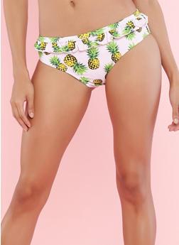 Ruffled Pineapple Print Bikini Bottoms - 1201074121210