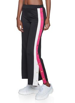 Scuba Striped Detail Flyaway Track Pants - 1285069395103