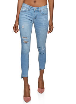 WAX Distressed Push Up Skinny Jeans - 1288071618310