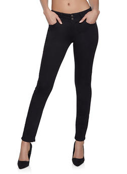 WAX 2 Button Skinny Jeans - 1288071619004