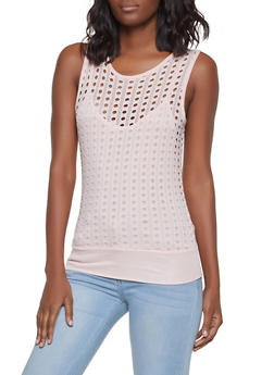 Perforated Tank Top - 1300038342299