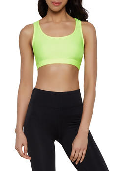 Cropped Racerback Tank Top - 1300058750620