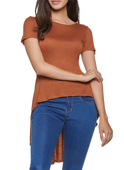 Solid High Low Tee - 1301058750729