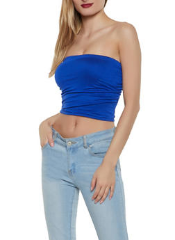 Ruched Side Tube Top - 1301058750880