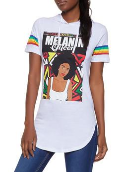 Melanin Queen Hooded Tunic Top - 1302033871414