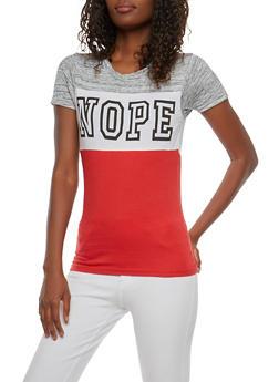Nope Graphic T Shirt - 1302033876812