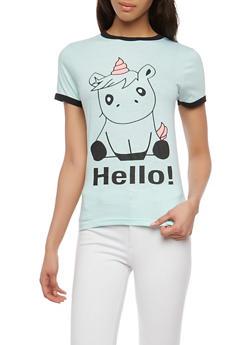 Unicorn Graphic T Shirt - 1302033878273