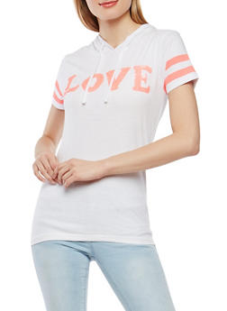 Sequin Love Graphic T Shirt - 1302033879370