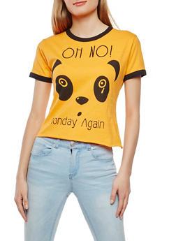 Panda Graphic Tee - 1302033879801