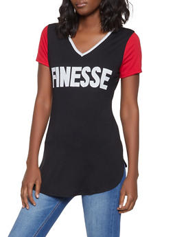 Finesse Graphic Tunic Top - 1302074292845