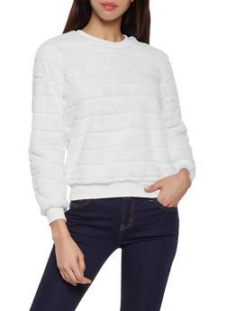 Faux Fur Sweatshirt - 1304015991216