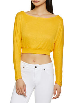 Rib Knit Crop Top - 1304058751673