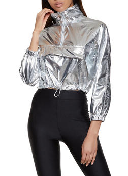 Foil Zip Neck Windbreaker - 1304058752074