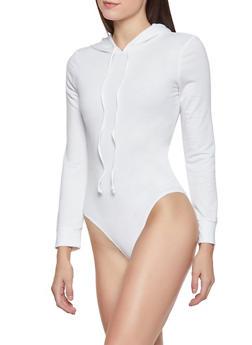 Hooded Long Sleeve Bodysuit - 1304074292825