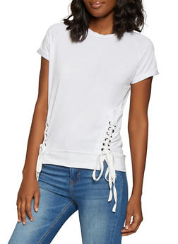 Lace Up Tee - 1305038342071