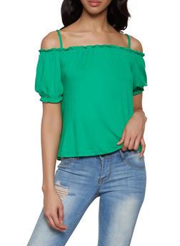 Soft Knit Off the Shoulder Top - 1305058750360