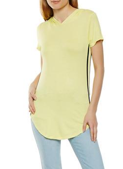 Side Varsity Stripe Tunic Top - 1305058750756