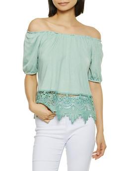 Crochet Off the Shoulder Top - 1305058754346