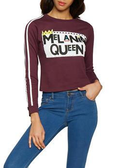 Melanin Queen Graphic Sweatshirt - 1306033870445