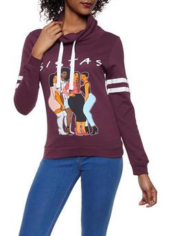Sistas Graphic Hooded Sweatshirt - 1306033870765