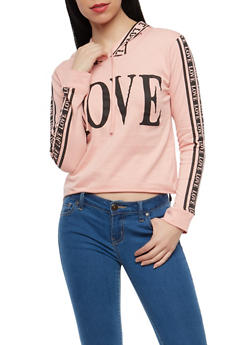 Graphic Hooded Top - 1306033877541