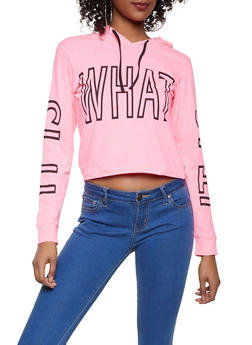 It is What It is Graphic Hooded Tee - 1306033878721