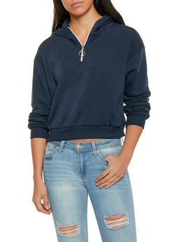Half Zip Hooded Sweatshirt - 1306051060002