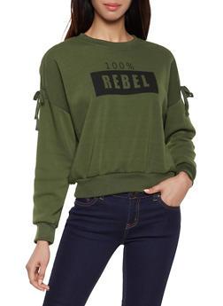 Fleece Lined Graphic Sweatshirt - 1306051060133