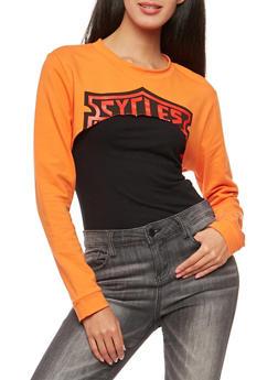 Graphic Open Front Sweatshirt - 1306074290761