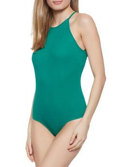Sleeveless Ribbed Knit Bodysuit - 1307054260408