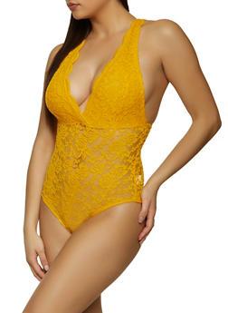 Lace Sleeveless Bodysuit - 1307054260675
