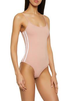Varsity Stripe Bodysuit - 1307054260901