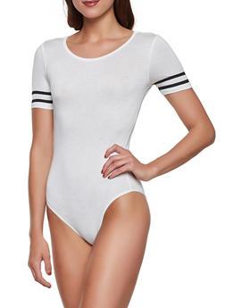 Varsity Stripe Tee Bodysuit - 1307054260905