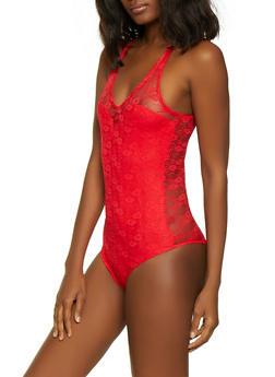 Lace Cami Bodysuit - 1307054265871