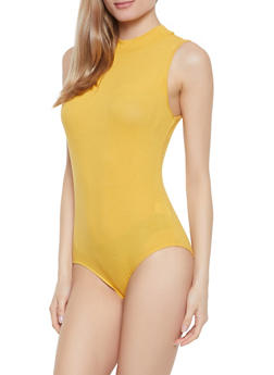 Sleeveless Rib Knit Bodysuit - 1307054269415