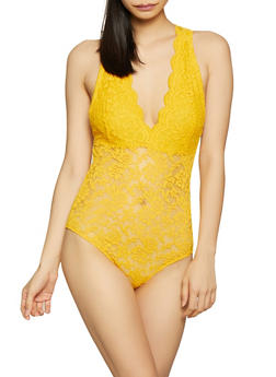 Sleeveless Lace Bodysuit - 1307054269673