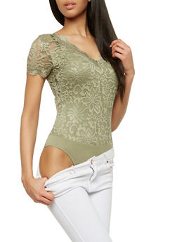 All Over Lace Bodysuit - 1307054269991