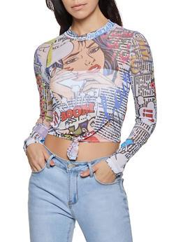 Pop Art Mesh Top - 1307058753109