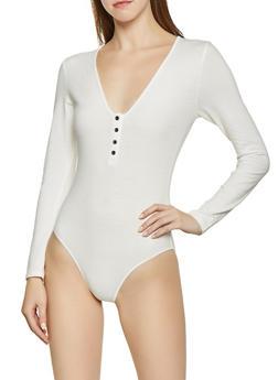 Henley Bodysuit - 1307074292827