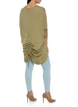 Ruched Back Cocoon Cardigan - 1308038342214