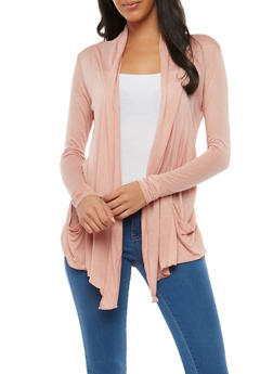 Light Weight Drape Front Cardigan - 1308054261613