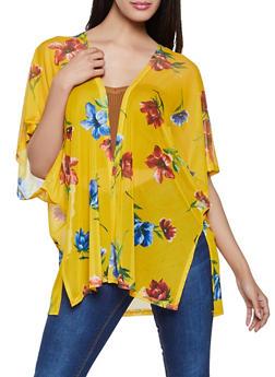 Floral Mesh Kimono - 1308054262412